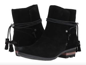 Sorel Farah Short Boots Womens size 6 Suede Black