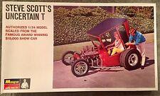 RARE 1960's Monogram Steve Scott's Uncertain T 1/24 Model Kit