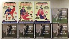 Lot of Eight (8) Dvd's - Sambo Submission Fighting & Judo by Dave Williams