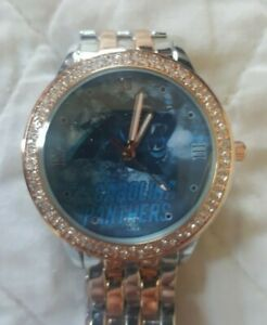 Carolina Panthers Women's NFL Luxury TWO TONED Stainless Steel Watch (RARE) NEW