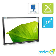 "ASUS VW226 22"" Widescreen 1680x1050 LCD Monitor ONLY VGA DVI Grade B"