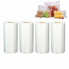 "New listing 4 Rolls 8""x50' Universal Embossed Vacuum Sealer Bags - Food Saver Bpa Free 4 Mil"