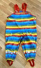 Jako-O  Stripe PVC Overalls Play Rainsuit Size 80/86 18mos.