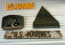 Variety Lot Of Military Patches:US Marines, USA Armor Center Don,t Tread On Me