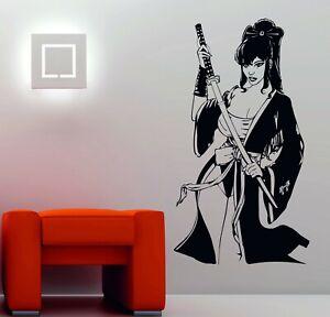 Geisha Katana Swords Japanese MANGA Decor ANIME Wall Art Stickers Decals Vinyl