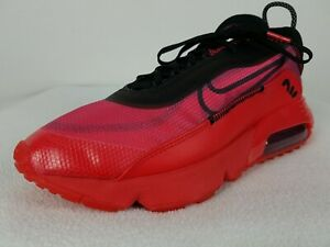 Nike Air Max 2090 Running Shoes Size 10.5 Men's Red Black DC1851-600