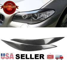 (Real) Carbon Fiber Headlight Eyelids Eyebrows For BMW 11-16 F10 5 Series M5