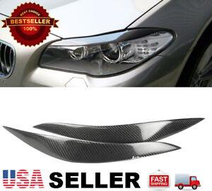 (Real) Carbon Fiber Headlight Eyelids Eyebrows For BMW 11-16 F10 5 Series M5