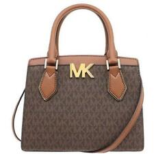 MICHAEL KORS SIGNATURE MOTT MINI SATCHEL or MEDIUM MESSENGER BAG BROWN/LUGGAGE