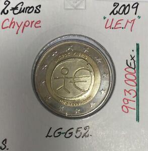 CHYPRE - 2 Euro 2009 - 10 ans de l'UEM