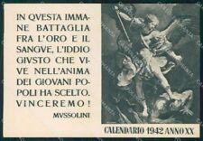 Militari Propaganda Calendario 1942 formato cartolina XF7180