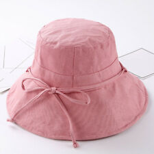 1bc2f091ac7 Womens Girls Bucket Hats Wide Brim UV Protection Floppy Foldable Bowknot Sun  Hat