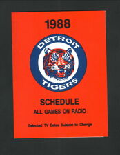 Detroit Tigers--1988 Pocket Schedule--WTCM