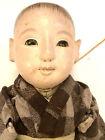 "Antique Japanese Doll 15"" c.1850  ICHIMATSU DAKI NINGYO BOY DOLL KIMONO"