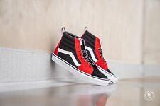 Vans Sk8-Hi Red/Black/ Grey Mens Skate Shoes Size 7.5