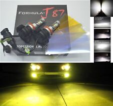 LED Kit X3 50W H11 3000K Yellow Two Bulbs Fog Light Replacement Plug Play Lamp