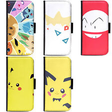 PIN-1 Game Pokemon C Phone Wallet Flip Case Cover for Apple Sony