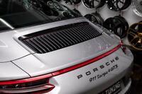 Embleme Porsche Coffre arriere D'origine Finition Noir Brillant