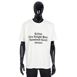 CELINE 415$ Loose T-shirt with Celine Chambord Print in Cotton Jersey