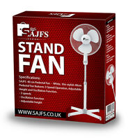 """NEW 16"""" Oscillating Extendable Free Standing Tower Pedestal Cooling Fan (White)"""