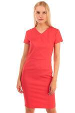 RRP €140 FRENCH CONNECTION Mini Sheath Dress Size UK 10 Slit Hem Partly Lined