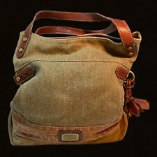 Fossil Sage Canvas Leather Suede Sh