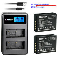 Kastar Battery LCD Dual Charger for Fujifilm NP-W126 NP-W126s & BC-W126 Charger
