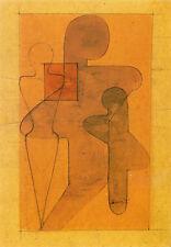 Tarjeta de arte/Postcard tipo-Bauhaus Oskar Schlemmer: figuraciones