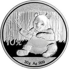 2017 ~ PURE .999 SILVER ~ CHINA ~ PANDA  COIN ~ 30~GRAM ~ 10~YUAN ~ MINT CAPSULE