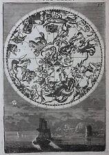 Antico Emisfero Nord CELESTI grafico, costellazioni, stelle, Mallet, 1683