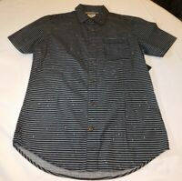 Hurley Men's Short Sleeve Button Up Shirt Striped MVS0004910 00A L large NWT