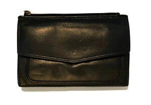 Fossil Brown Genuine Leather Trifold Wallet Clutch Organizer Vintage