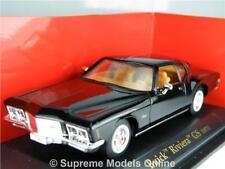 BUICK RIVIERA GS 1971 CAR MODEL 1/43RD SCALE BLACK COLOUR EXAMPLE BXD T3412Z(=)