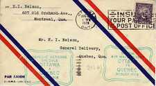 CANADA 1ers vols first flights airmail 5