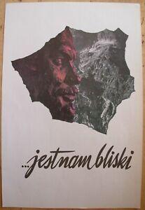 Original Polish political Poster LENIN Jestnambliski Communist propaganda