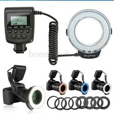 Marco 48 LED Ring Flash Light Lamp For Nikon Canon Panasonic DSLR Camera Olympus