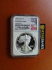 1994 P PROOF SILVER EAGLE NGC PF70 ULTRA CAMEO RARE MIKE CASTLE SIGNED KEY DATE!