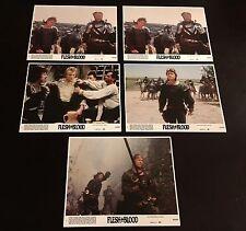 "Lot of 5 Original Movie Lobby Cards - Flesh + Blood - 1985 - 8""x10"""