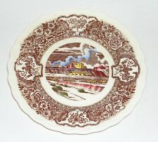 "Vintage Vernon Kilns 1860 Hand Painted Western Wagon Train 6.5"" Plate, Botsford"