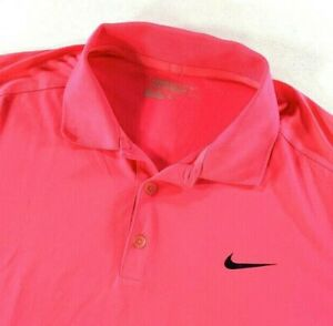 Nike Golf Men's Tour Performance Dri-Fit Polo Shirt Hot Pink • XL