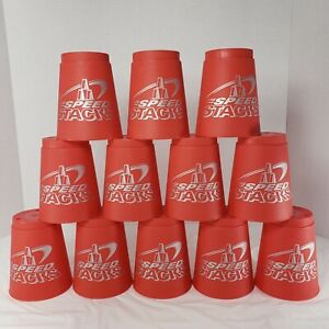 WSSA Speed Stacks 12 Official Red Competition Wild Cups & Sport Carry Bag