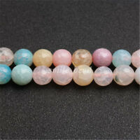 Charm Loose Facted Crystal Glass Round Spacer Beads 4mm-12mm For Jewelry Making