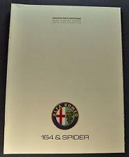 1991 Alfa Romeo 164 & Spider Catalog Sales Brochure Excellent Original 91