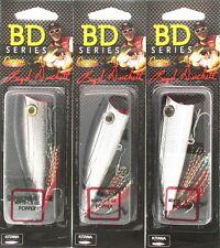 (3) Castaic Boyd Duckett Series BD Popper 70 BDP70 Chrome Black 1/2 Oz