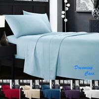 Egyptian Comfort 1800 Count 4 Piece Deep Pocket Bed Sheet Set Hotel Luxury H4