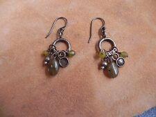 Peyote Bird Designs~Labradorite, Peridot & Sterling Silver dangle Earrings
