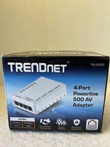 TRENDnet TPL-4052E 4 Port Powerline Network 500 AV Adapter, Open Box