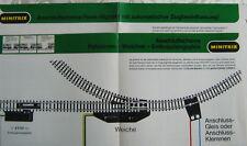Anschluss Schema MINITRIX Form-Signale 2 Ratgeber 1972