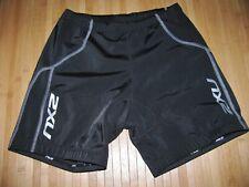 2Xu Shorts Cycle Running Size Large Nylon Lycra Tri Triathlon Lightweight Pad