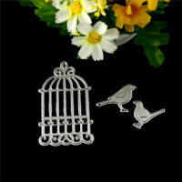 bird cage Metal Cutting Dies Stencil Scrapbook Paper Cards Craft Embossing md